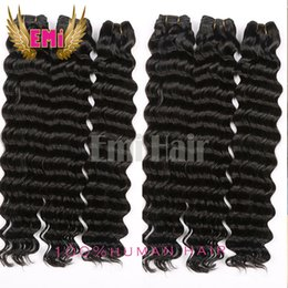 Wholesale Cheap Brazilian Deep Curl - Cheap 7A Brazilian 100% human hair bundles free Hair weaves bundles deep curl wave hair extension Indian Malaysian Bundles free shipping