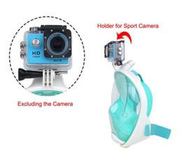 Wholesale Dive Rings Wholesale - 2017 New Full Face Anti-fog Snorkeling Diving Mask Anti-skid Ring Snorkel Scuba GoPro Camera Snorkel Masks Underwater