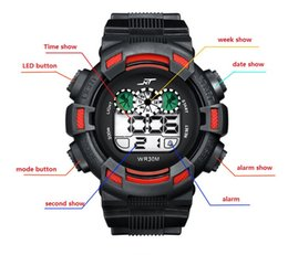 Wholesale Digital Watch Stopwatch - Electronic quartz watches student electronic watch boy calendar waterproof luminous watches male multi-function digital sports wristwatch