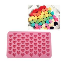 Wholesale Silicone Heart Soap Mold - Heart DIY Mold Chocolate Cookie Soap Mould Candy Silicone Cake Ice Cube Tray Brand New Good Quality Free Shipping