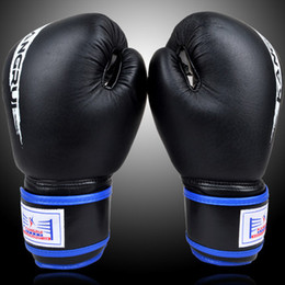 Wholesale Glove For Fitness - 10oz real leather high quality breathable male fitness boxing gloves muay thai for adult free shipping