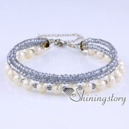 Wholesale Collections Link - freshwater pearl bracelet multi strand pearl bracelet with crystal beads real pearls jewelry wedding jewellery collection