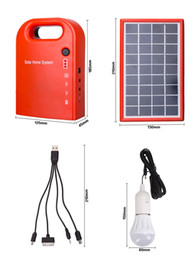 Wholesale Indoor Solar Lighting Systems - Solar power system home Power Supply Solar Generator Field Emergency Charging Led Lighting System With Lamps
