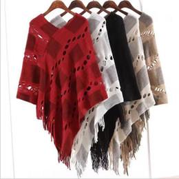Canada Gland Poncho Fringe Wraps Femmes Vintage Mode Écharpe Tricot Écharpes D'hiver Cape Châle Pull Cardigan Couvertures Manteau Manteau Pull B3025 Offre