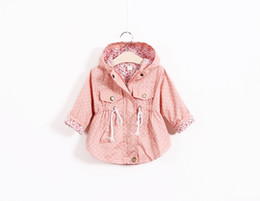 Wholesale Korean Fashion For Winter - Autumn Jackets For girls New Korean version Brand Fashion Polka Dot shirt Coat 5pcs lot Children Hoodies