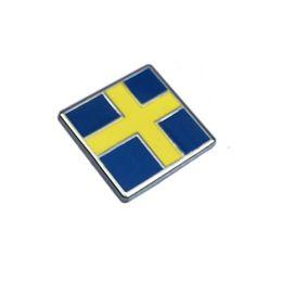 Wholesale Volvo Alloys - Car Styling Sweden Flag Rear Trunk Badge Emblem Side Badge for Volvo S60 V60 S80 XC60 XC90