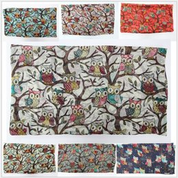 Wholesale Wholesale Owl Scarfs - spring and autumn period and the latest female voile scarf owl long warm scarves shawls joker air conditioning shawl AA02