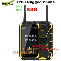 Wholesale Smartphone Android Quad Core Rugged - Original Rugged Phone X8S 3G WCDMA UHF Walkie talkie Smartphone Shockproof Quad Core Android Cell Phone
