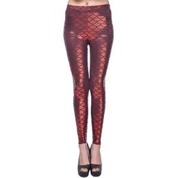 Wholesale Spandex Hot Pants Plus Size - Hot Girl Leggins women Scale plus size grid leggings Simulation mermaid sexy pants Digital print colorful spandex gym leggings LWDK14-01 WR