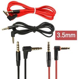 Wholesale Earphone Headset Talking Control - 3.5mm Replacement Studio AUX Cable For Earphone Heaphones With Control Talk MIC Extension Audio Detox Pro Male to Male For Solo Mixr Headset