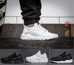 Wholesale Cheap White Shoes For Women - Cheap Air Huarache 2 II Ultra Classical all White And Black Huaraches Shoes Men Women Sneakers Running Shoes Size 36-45 online for sale