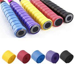 banda para la cabeza negra Rebajas Accesorios deportivos 1pc Absorbe el sudor Raqueta antideslizante Bat Overgrip Roll Tennis Badminton Handle Tape