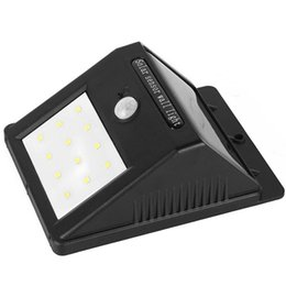Wholesale 12 led solar lamp - DHL free shipping Solar operated 12 leds LED solar wall light IP65 waterproof outdoor lights LED solar wall lamp