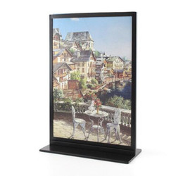 Wholesale A4 Side - Metal A4 Double-sided Table Advertising Display Stand Poster Stand KT Board Sign Holder Menu Display Stand