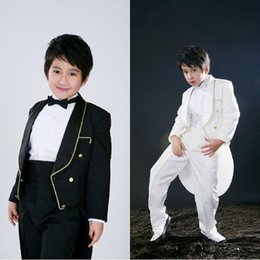 Wholesale Purple Pinstripe Pants - New Cute Boys Formal Occasion Light Suit Little Men Wedding Tailcoat Boy Party Birthday Suits Formal Occasion suits(Jacket+Pants)