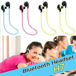 Wholesale H7 Mini - 2016 QY7 Headphones H7 Mini Wireless Bluetooth Earphone Sport Earphone 3D Dre Dre Headphones Noisy Cancelling With Mic For Phone PC