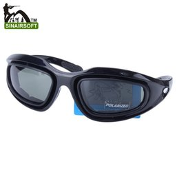 Wholesale Tactical Airsoft Protection Goggles Glasses - Tactical C5 PC texture Desert Storm sports Polarizing sunglasse 4 lenses Eyewear Cycling Riding Eye Protection goggles Airsoft UV400 Glasses