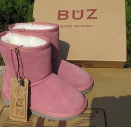 Wholesale Genuine Leather Boots Kids - Free shipping Real Australia High-quality Kid Boys girls children baby 5281 warm snow boots Teenage Students Snow Winter boots 1 PAIR