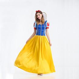 Wholesale Party Fantasia - Snow White Princess Dress Women fantasia Princess Snow White Cosplay Carnival Disfraces Party Women Adult Snow White Costumes