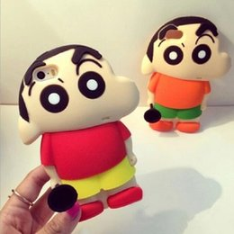 Wholesale Shin Chan Iphone Case - Wholesale Hot Sale Cute Cartoon Crayon Shin-chan Phone Cover Case Soft Silicone Toilet Cover Phone Case For Iphone 5s SE 6 6s Plus