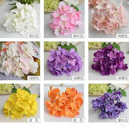 Wholesale Display Rods - New Arrive Luxury Artificial Hydrangea Flower with Flower Rod DIY Silk Hydrangea Accessory for Home Wedding Decoration
