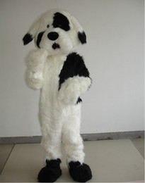 Wholesale Custom Dog Dresses - Deluxe Plush Dog Mascot Costume Adult Size Dog Fancy Dress For Halloween Party