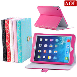 Wholesale Bling Ipad Case Stand - New Diamond Bling Sparkly Leather Flip Smart Case Cover Stand for iPad air iPad 5 Protective Cover DHL free