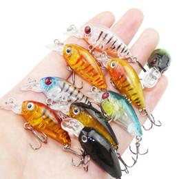 2019 brillo oscuro gancho Lote 9 piezas de colores 4.5 cm 4g señuelos de pesca de plástico transparente Minnow Crankbaits 3D ojo de pez cebo señuelo artificial