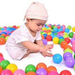 Wholesale Ocean Ball Pit - 100 pcs lot Eco-Friendly Colorful Ball Soft Plastic Ocean Ball Funny Baby Kid Swim Pit Toy Water Pool Ocean Wave Ball 5.5cm   7 cm   8cm +NB