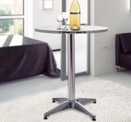 Wholesale Outdoor Aluminum Bar - Adjustable Bar Table 24 Dia. Aluminum Bistro Pub Counter Outdoor Indoor
