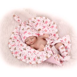Wholesale Soft Mini Dolls - Lovely Reborn baby dolls silicone full body that look Real 11inches 27cm Mini silicone baby dolls