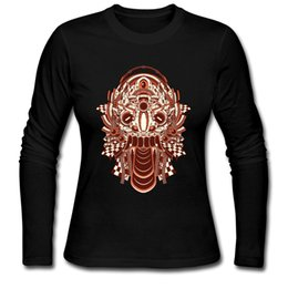 Wholesale Stylish Clothes For Women - Ancient Lion woman vintage long t shirt cool stylish lady's street wear clothing unique metal sense design long-sleeve tees for girl
