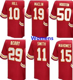 Dame ville en Ligne-Womens Kansas City 29 Eric Berry 50 Justin Houston 15 Patrick Mahomes II 11 Alex Smith 10 Tyreek Hill 19 Maillot femme Maclin femme cousue