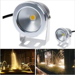 Accesorios de iluminación de 12v dc online-Super brillante 1000LM 10W COB LED Luz subacuática 12V DC Enfriar / calentar Blanco IP68 A prueba de agua Lámpara de piscina Accesorio de iluminación