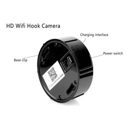 Wholesale Hidden Cameras Clothing - covert 1080P HD WIFI Hidden clothes Hook Spy Wireless Hook network Camera Max 64GB