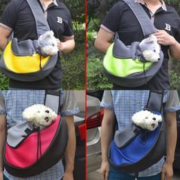 eco amigable bolsas gratis Rebajas 2017 Diseño Especial Mascota Perro Gato Cachorro Portador de Malla de Viaje Bolsa de Hombro Sling Mochila Mochila Perro Cómodo Envío Gratis