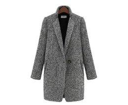 2019 panno per l'inverno Nuovi vestiti delle donne di alta qualità panno ispessimento cappotto a maniche lunghe coltiva la moralità Autunno inverno cappotto di polvere vestiti regalo ems libero panno per l'inverno economici