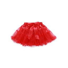 Wholesale Wholesale Petti Tutus - Girls Multi-List Solid Color Pettiskirt Bow-knot Skirt Girls Dance Tutu Skirt Kids princess Petti skirt A9252