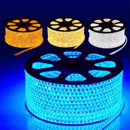 Wholesale Epistar Led Red - 220V LED Strips 100M Epistar SMD3528 SMD2835 flexible strip with Power plug IP67 Sigle Color By DHL