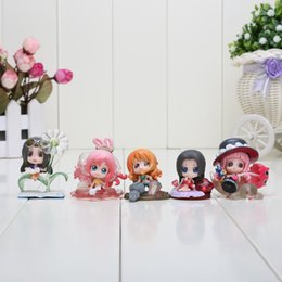 Wholesale One Piece Figures 5cm - 4-5cm Anime One Piece Hancock Robin Nami Shirahoshi Perona PVC Acton Figure Model Toys 5pcs set