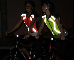 Wholesale Rs 15 - Wholesale-Breathable Reflective Cycling Vest Protecetive Jersey Safety Warning Clothing Bicycle Jersey Mountain Bike Vest For Men Wome RS-15