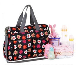 Wholesale Striped Maternity - baby nappy bags diaper bag mother shoulder bag Fashion High quality maternity mummy handbag waterproof baby stroller bag