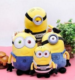 Wholesale Despicable 35cm - Genuine little yellow people plush doll goddess daddy 3 plush toys small yellow people despicable my milk dad doll 3 pieces of freeshiping