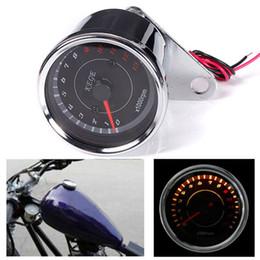 Wholesale Digital Speedometer Odometer - 2016 New Design Universal Motorcycle Mortorbike Digital Speedometer Guage Tachometer Odometer Rev Counter 0-13000 RPM AUP_303