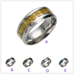 Wholesale Large Steel Hook - High quality large size 316 Titanium Stainless Steel Anchor hook Statement band ring men women Silver gold balck blue