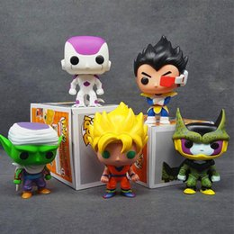 Wholesale Cell Action Figure - Dragon Ball Z Funko POP Super Saiyan Son Goku Vegeta Cell Piccolo Frieza PVC Action Figure Model DragonBall Toy Doll model gift toys
