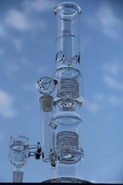 Mignon en Ligne-Date bases lourdes Matrix sidecar verre bong birdcage perc tuyau de verre épaisse 6mm miel seaux banger verre fumant articulations 18.8mm