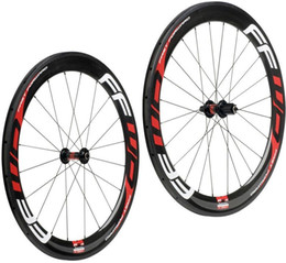 Wholesale Straight Pull Carbon - Hot sale FFWD carbon wheels 60mm wheelset straight pull Powerway R36 carbon hubs full carbon road bicycle bike wheels
