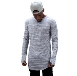 Wholesale T Shirt Design Hands - New fashion brand t shirts extend hip hop street T-shirt men long sleeve oversize design hold hand