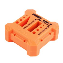 Wholesale Screwdriver Magnetizer - Free Shipping 1 PCS Practical JM-X2 Magnetizer Demagnetizer Box Screwdriver Magnetic Tool kit Orange
